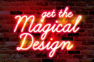 Free Neon Glow Text Effect PSD