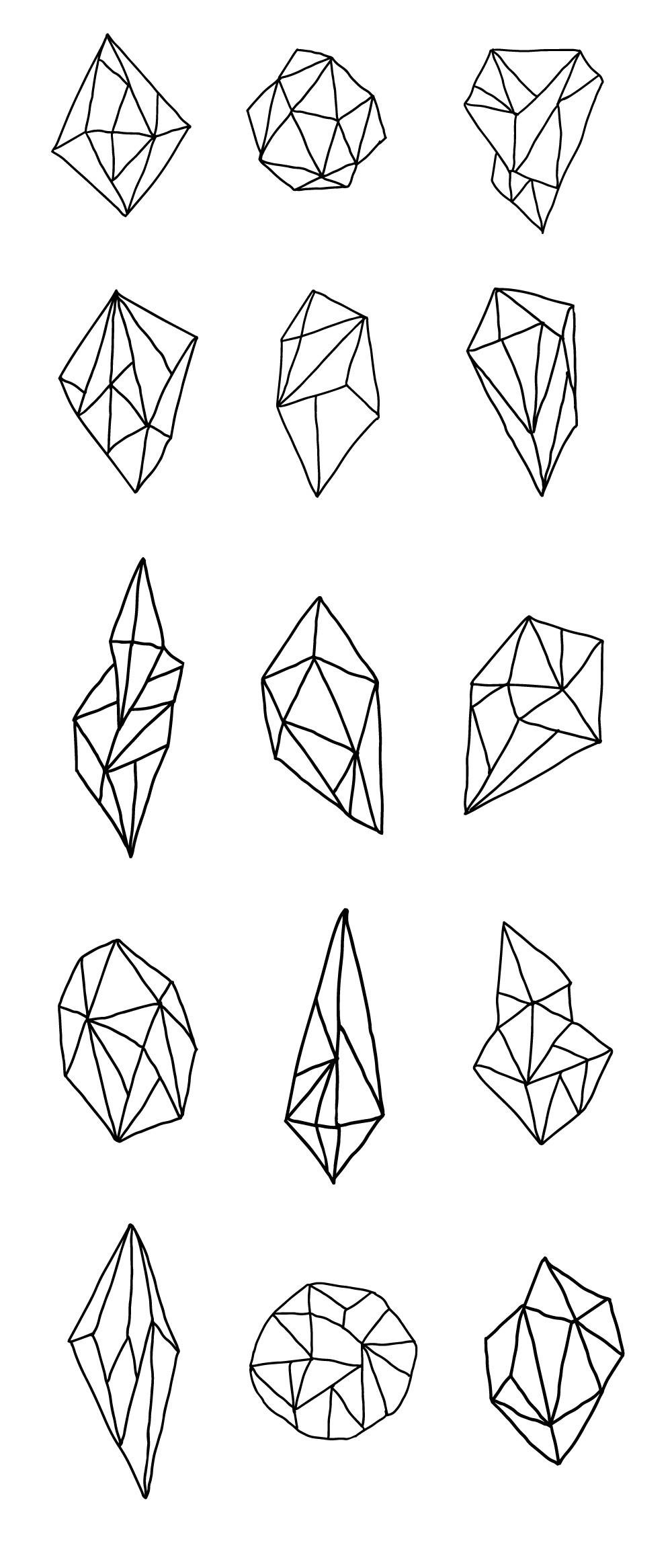 Hand-drawn Geometric Polygons