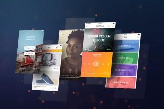 Mobile App Screens Mockup PSD