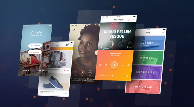 App Screens Display PSD Mockup