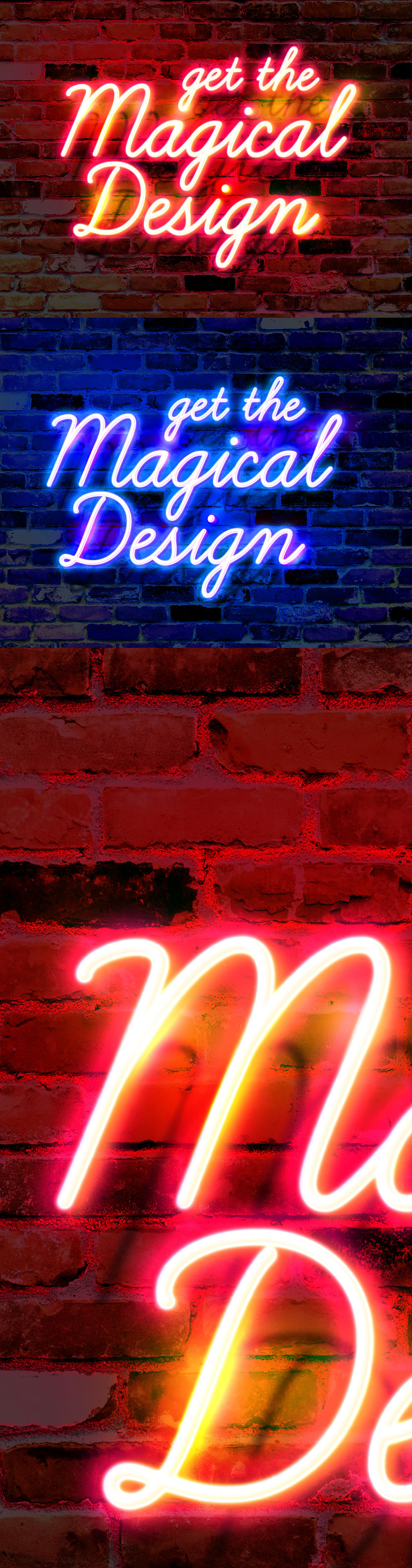 Wall Neon Glow Text Effect