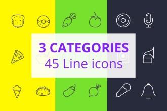 45 Free Line Icons
