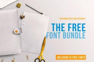 Free March Fonts Bundle