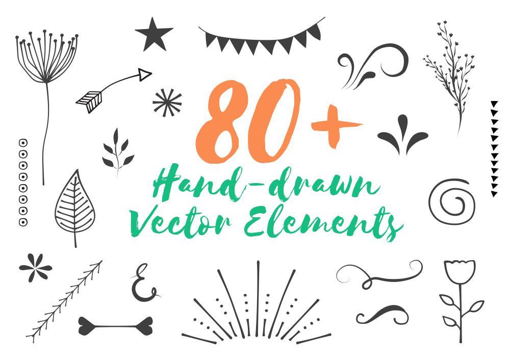 Free 80 Handdrawn Vector Elements