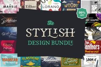 Stylish Fonts & Graphics Design Bundle