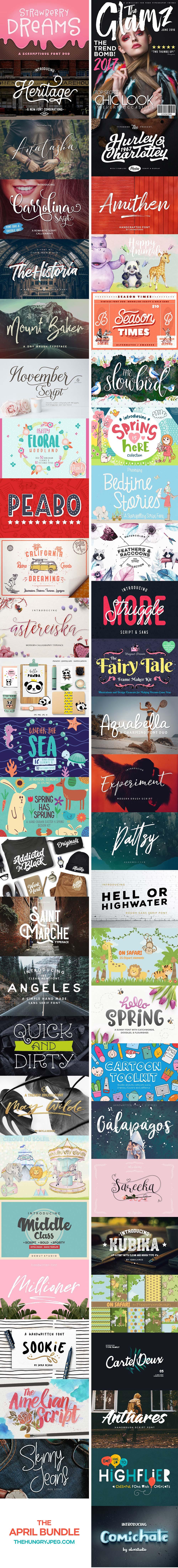 April Fonts & Graphics Bundle