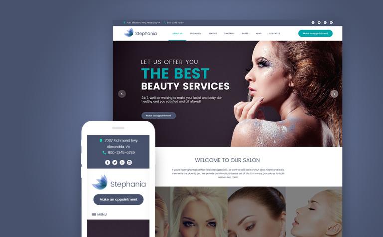 Beauty Salon Skin Care WordPress Theme