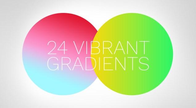 24 Vibrant Gradients For Photoshop