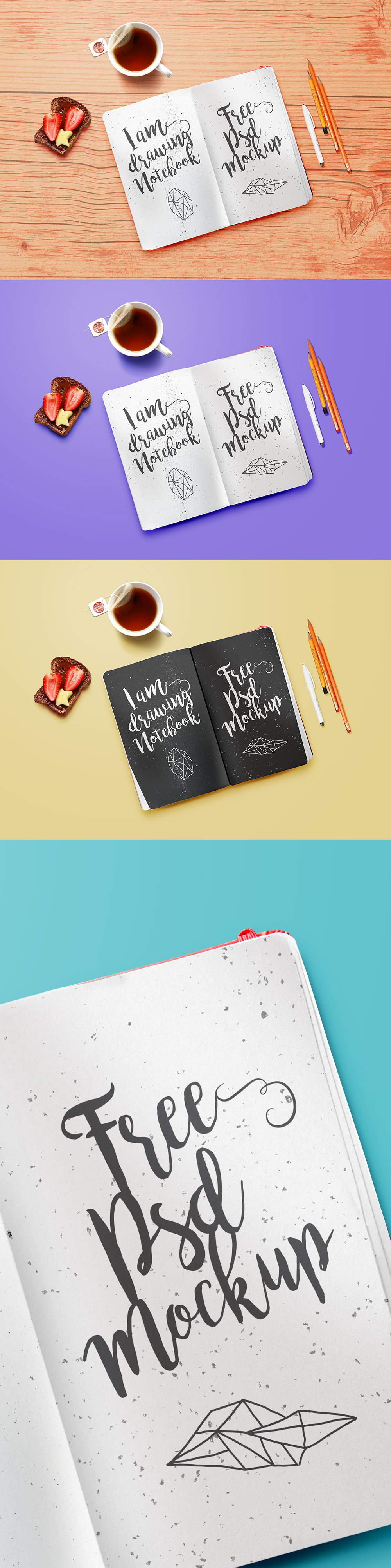 Drawing Notebook Mockup PSD
