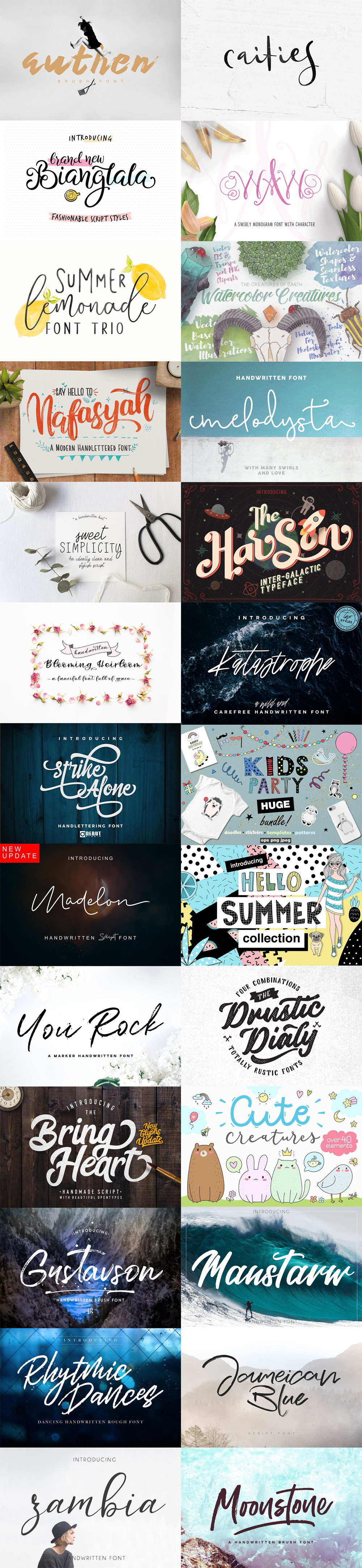 Download The May Fonts Bundle - GraphicsFuel
