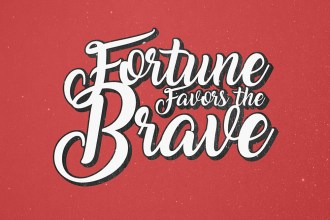 Vintage Poster Typographic Text Effect