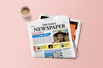 Newspaper Mockup Template