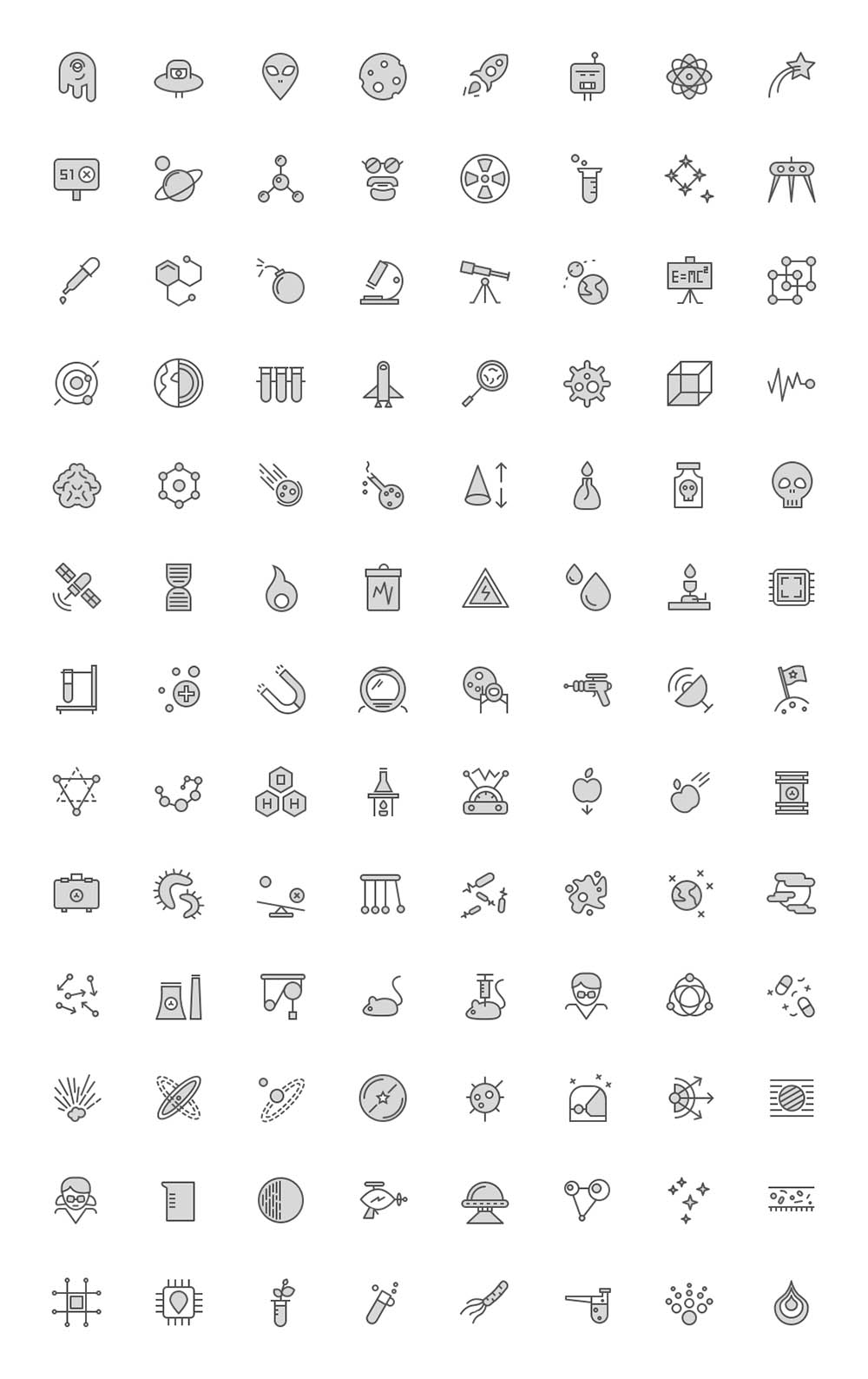 Science Icons - Filled
