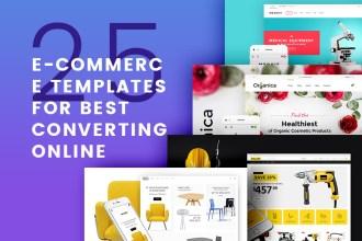 25 E-Commerce Templates for Best Converting Online Shops