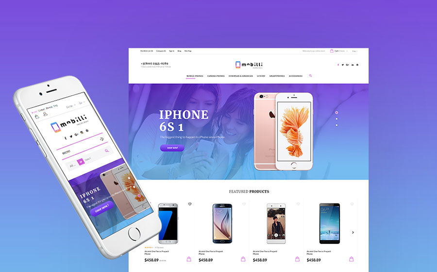 Mobile Phones & Accessories Prestashop Theme