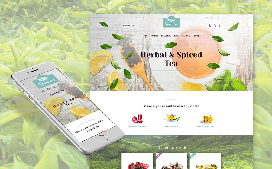 Herbal & Spiced Tea Responsive Prestashop Theme