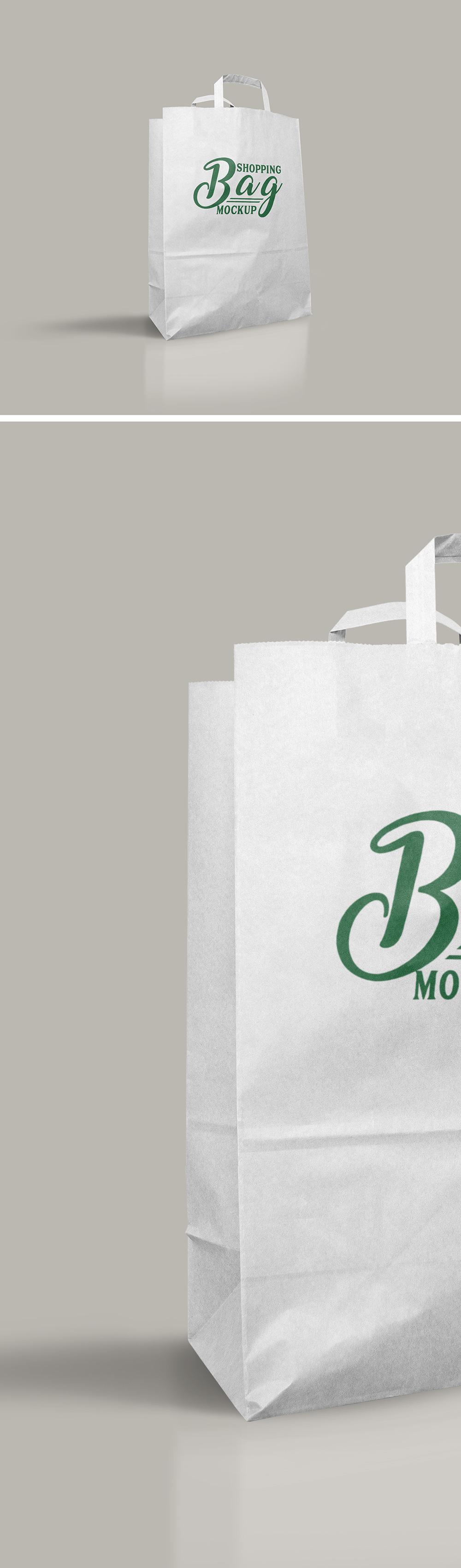 Light Shopping Bag Mockup