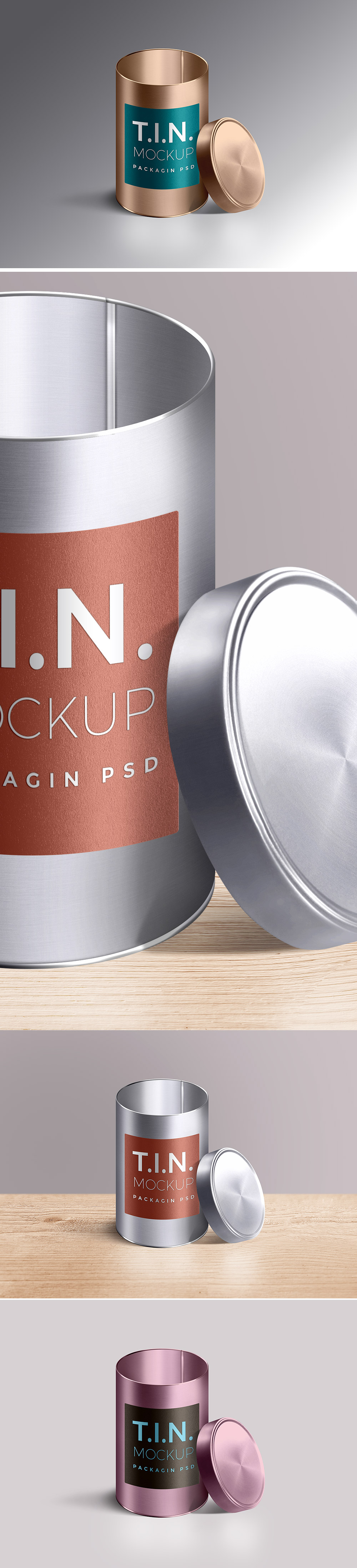 Tin Container Mockup PSD