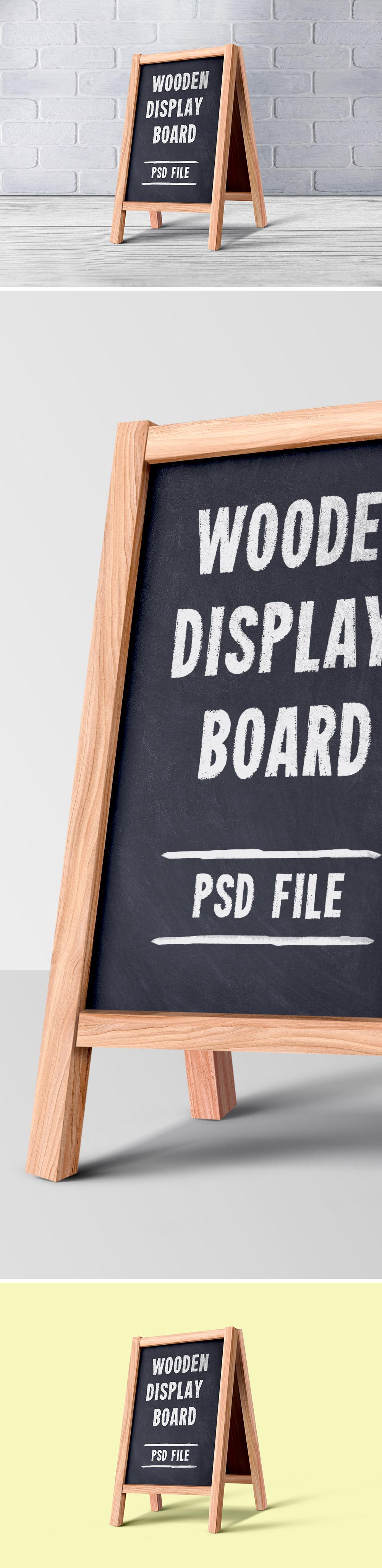 Wooden Menu Board PSD
