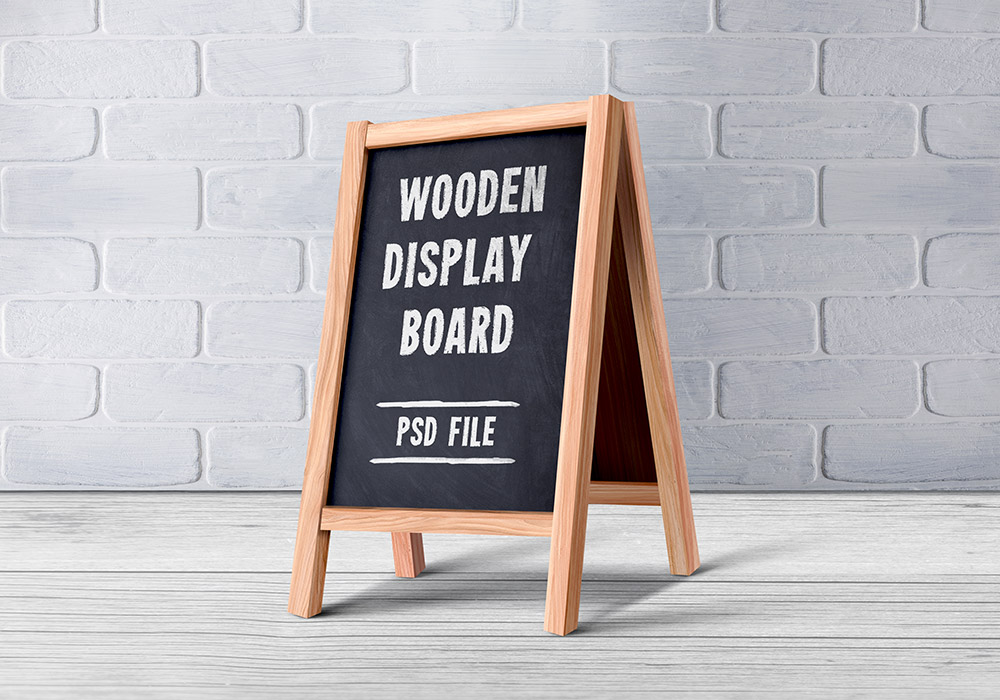 Wooden Menu Display Board