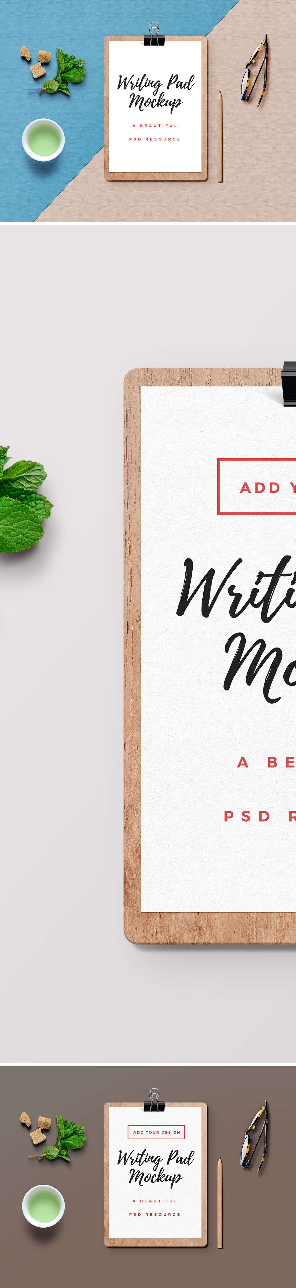 Writing Pad PSD Mockup