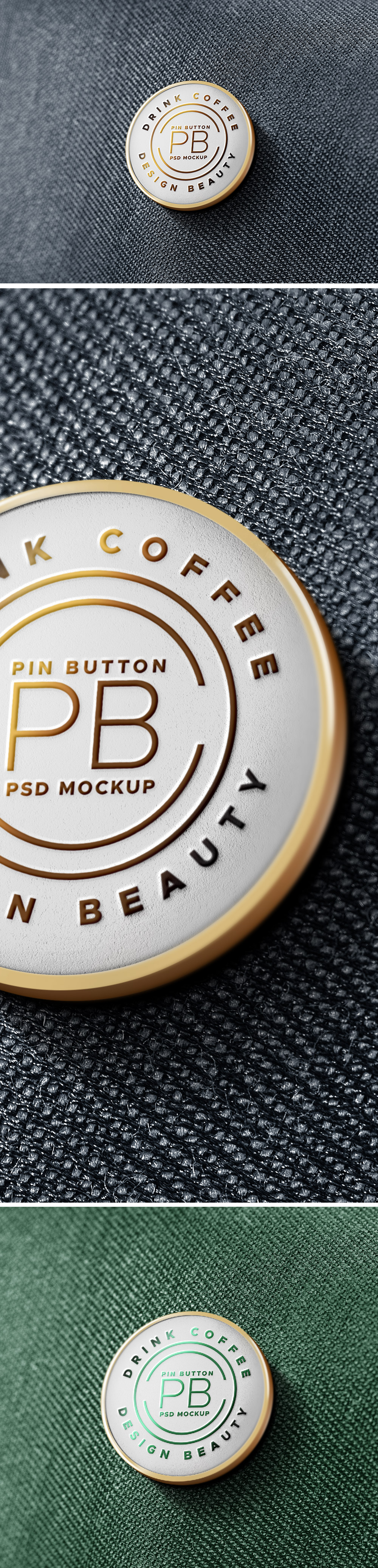 Pin Badge Mockup PSD