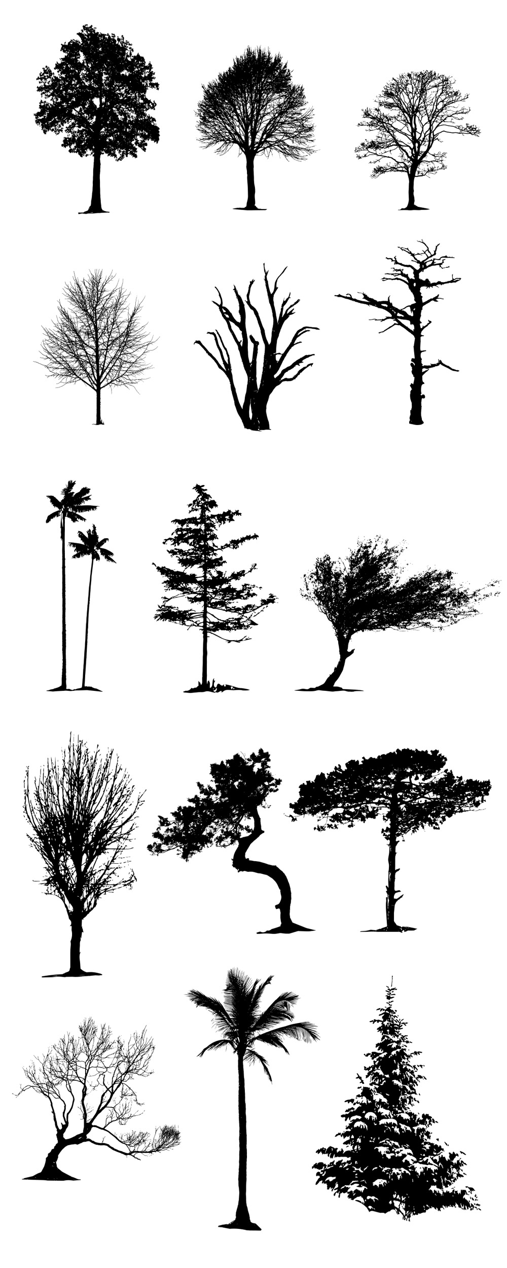 Vector Tree Silhouettes Pack