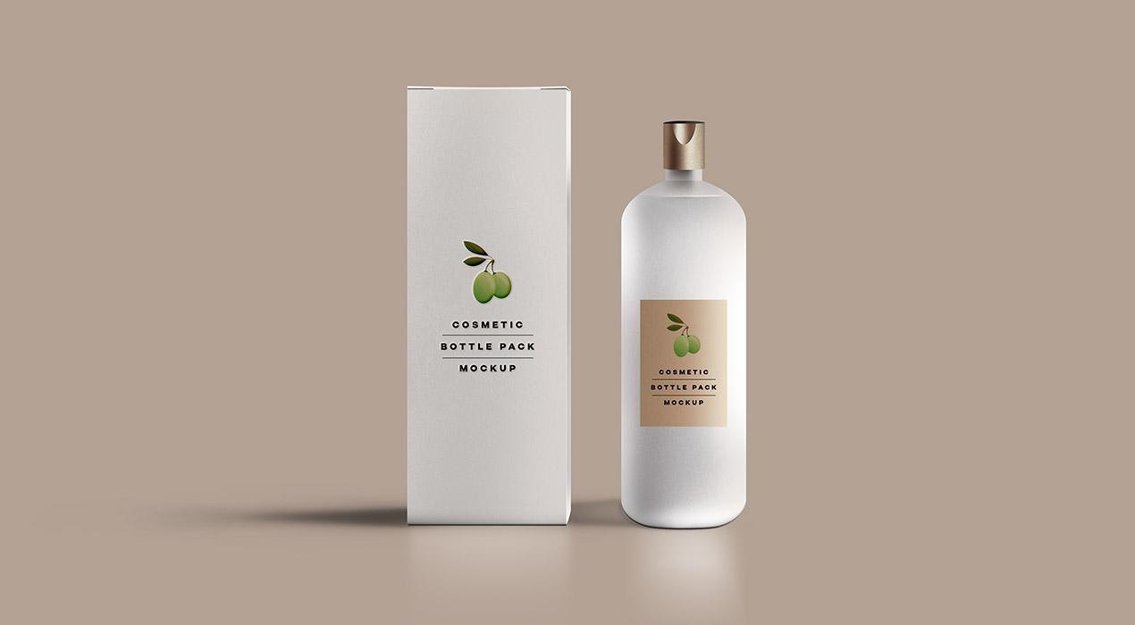 Cosmetic Packaging Bottle Mockup