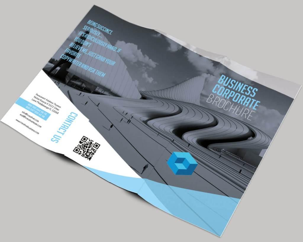 Business Free Tri-fold Brochure Template