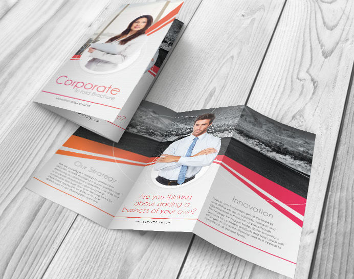Free Corporate PSD Tri-fold Brochure