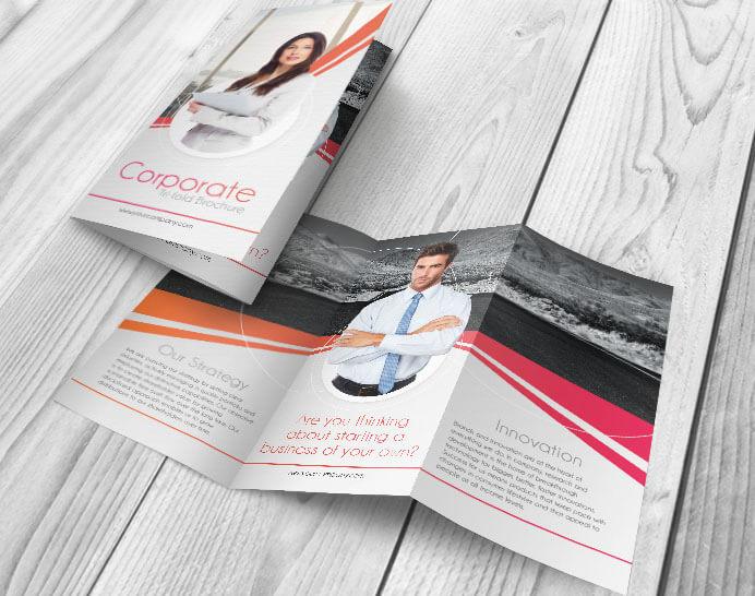 Free Corporate PSD Tri-fold Brochure