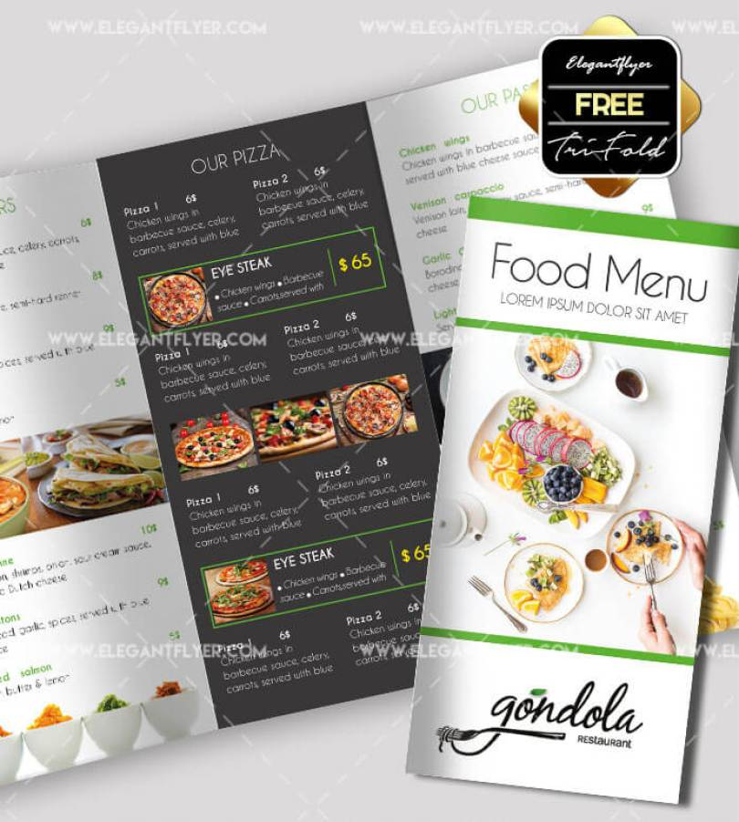 Restaurant Brochure Template in PSD