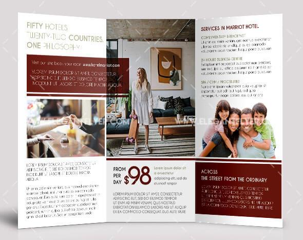 Hotel – Free PSD Tri-fold Brochure