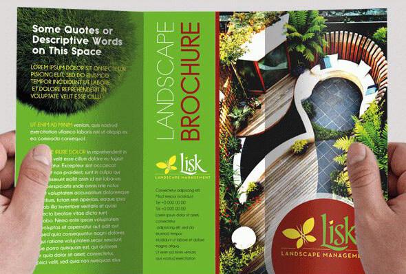 Landscape Design – Free Tri-fold PD Brochure