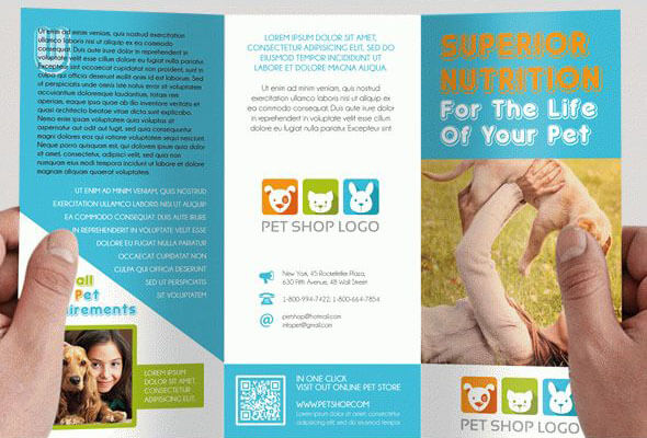 Pet Shop – Free Tri-Fold Brochure PSD