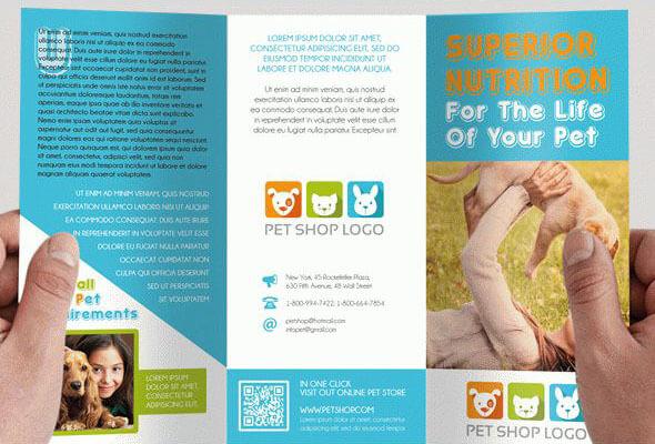 Pet Shop – Free Tri-Fold Brochure PSD