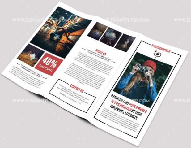 Photographer – Free PSD Tri-fold Brochure
