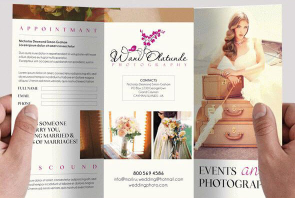 Photography – Free PSD Tri-fold Brochure