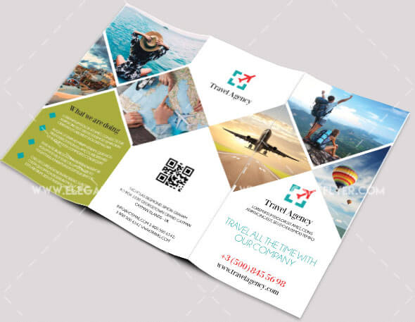 Travel – Free PSD Tri-fold Brochure