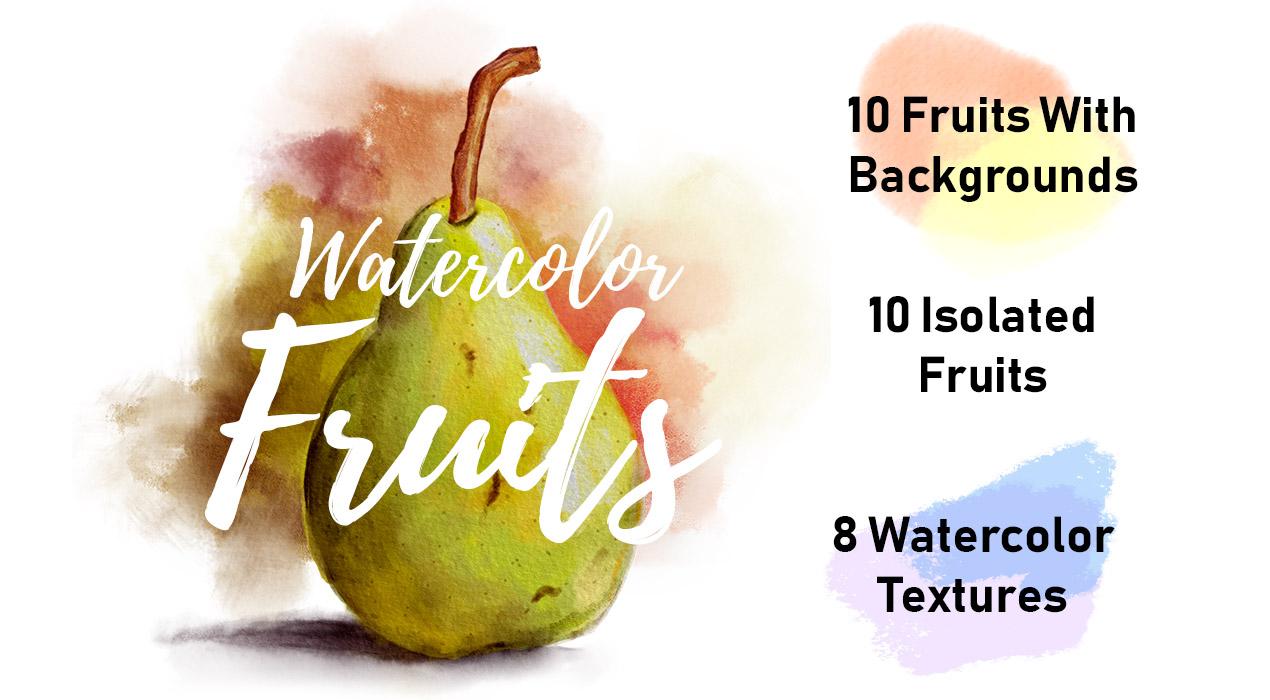 Watercolor Fruits & Textures