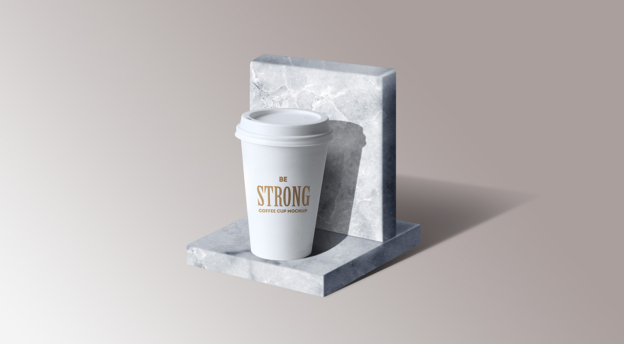 Marble Stand Mockup PSD