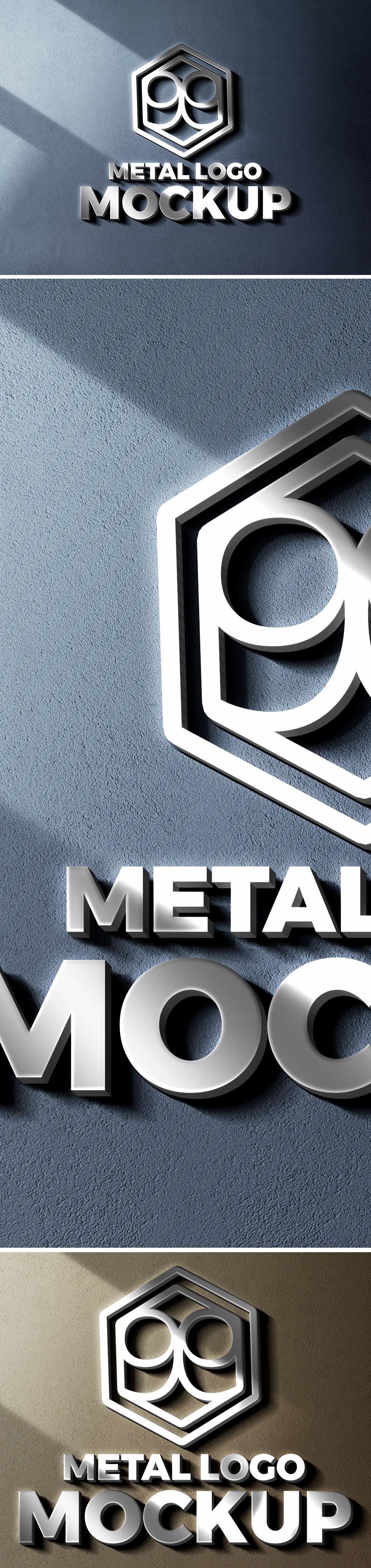 Metal Cut Logo Mockup