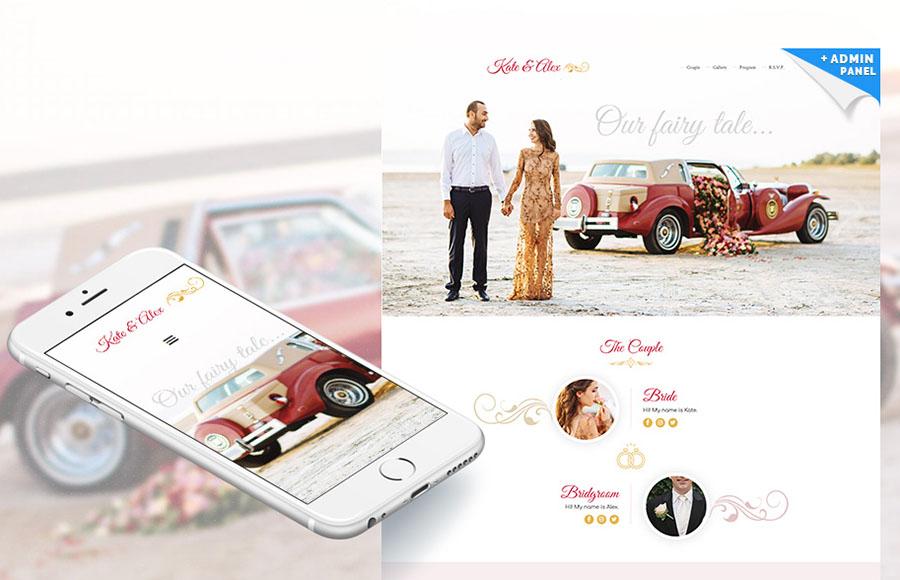 Wedding Planner Responsive Landing Page Template
