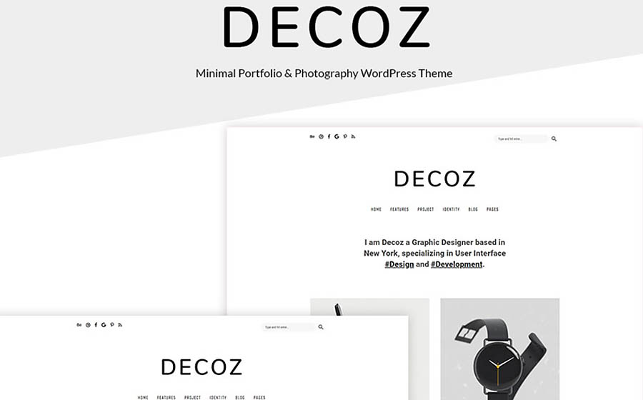 Decoz - Minimal Portfolio & Photography WordPress Theme