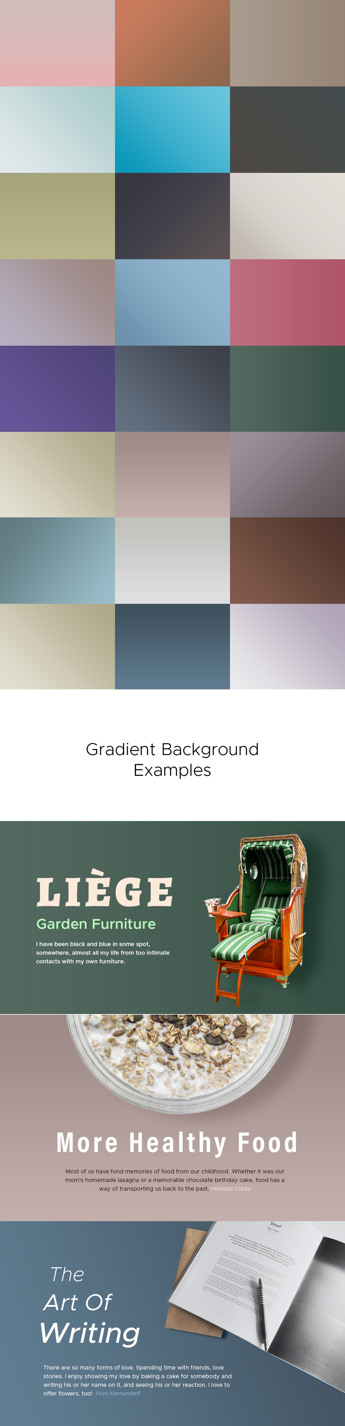 Professional Background Gradients