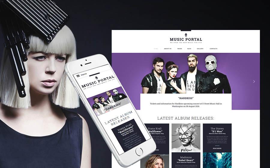 Music Portal Joomla Template
