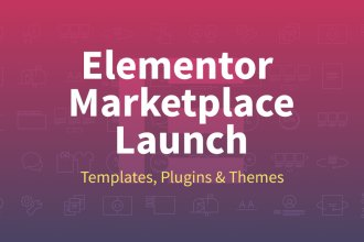 Elementor Marketplace Launch