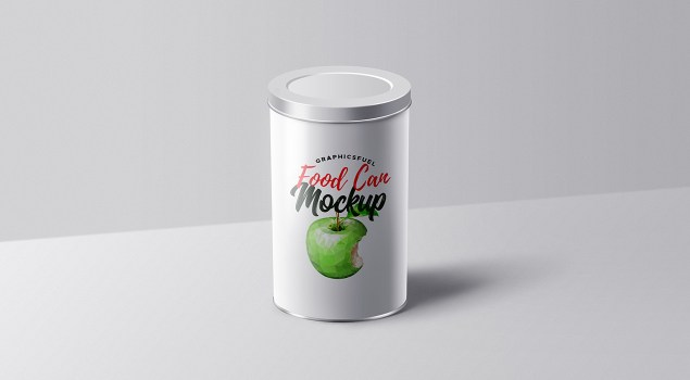 Food Can Tin Packaging Mockup
