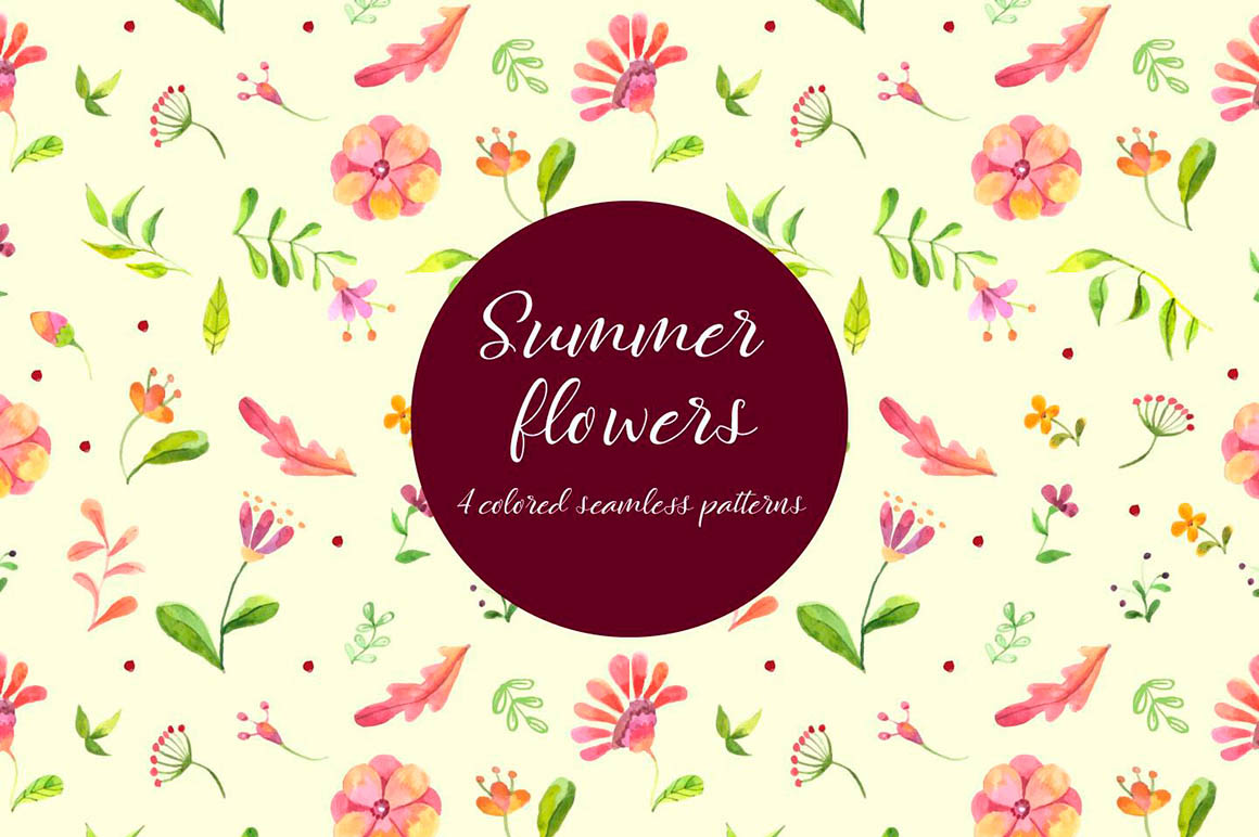 Summer Flowers Free Pattern