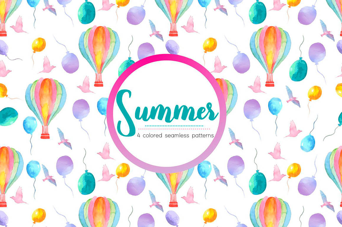 Watercolor Summer Pattern
